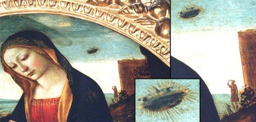 UFO Seen In The Madonna Painting